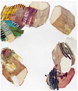 Pia Fries maserzug 1, 2008 Öl und Siebdruck auf Holz, 200 × 170 cm Sammlung Hans und Monika Furer © 2019, ProLitteris, Zürich