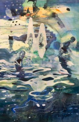 Miriam Vlaming Die Anderzeit, 2018 Eitempera auf Leinwand Tempera on canvas 290 x 190 cm Besitz der Künstlerin Collection of the artist © Miriam Vlaming