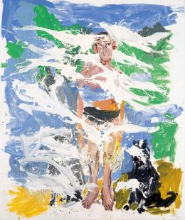Georg Baselitz, B. für Larry (Remix), 2006, Öl auf Leinwand, Albertina, Wien - Dauerleihgabe der Sammlung Viehof © Georg Baselitz