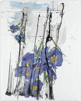 Georg Baselitz Iris, 2009 Öl auf Leinwand Albertina, Wien. Sammlung Batliner © Georg Baselitz
