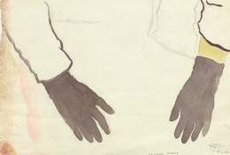 Gertrud Schwyzer (1896–1970),  Ohne Titel, Ärmel und schwarze Handschuhe, undatiert  Sammlung Herisau, CH, © KB-018299/S1