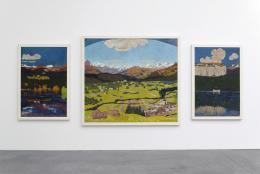 Giovanni Giacometti, Panorama von Flims, 1904, Öl auf Leinwand, 150.0 x 100.0; 180.0 x 200.0; 150.0 x 100.0, Fondation Saner Studen Stiftung für Schweizerische Kunst