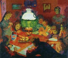 Giovanni Giacometti, Die Lampe, 1912, Öl auf Leinwand, 130 x 150 cm, Kunsthaus Zürich, 1912