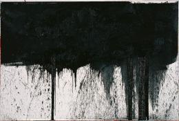 Hermann Nitsch Kreuzwegstation (aus dem Schwarzen Zyklus), 1991 Öl auf weißgrundierter Leinwand Albertina, Wien. Sammlung Essl © Hermann Nitsch, Bildrecht, Wien, 2019