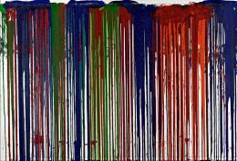 Hermann Nitsch    Schüttbild, 2005    Acryl auf Jute    Albertina, Wien. Sammlung Essl © Hermann Nitsch, Bildrecht, Wien, 2019