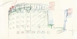 Hans Hollein, Haas-Haus, Wien, AT, 1985-1990, Skizze (c) Archiv Hans Hollein, Az W und MAK, Wien