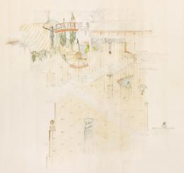 Hans Hollein, Haas-Haus, Wien, AT, 1985-1990, Skizze Atrium (c) Archiv Hans Hollein, Az W und MAK, Wien