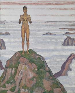 Ferdinand Hodler, Blick ins Unendliche III, 1903, Öl auf Leinwand, 100 x 80 cm, Musée cantonal des Beaux-Arts, Lausanne, Ankauf, 1994 Foto © Musée cantonal des Beaux-Arts de Lausanne / Nora Rupp