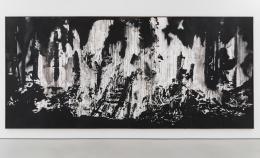 """Monica Bonvicini, """"Mountain Town 2015"""", 2017 © Monica Bonvicini und Bildrecht Wien; Foto: Adam Reich Tempera und Sprühfarbe auf Wabenplatten ca. 250 x 560 cm"""