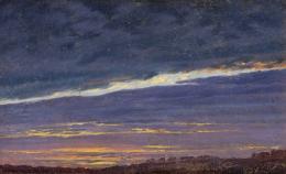 Caspar David Friedrich, Abendlicher Wolkenhimmel, 1824 Foto: Johannes Stoll © Belvedere, Wien