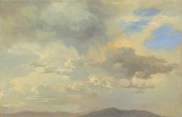 Adalbert Stifter, Wolkenstudie, um 1840 © Belvedere, Wien