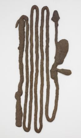 Kiki Smith, Digestive System, 1988 Photograph by Ellen Labenski, courtesy Pace Gallery © Kiki Smith, courtesy Pace Gallery Kiki Smith Digestive System 1988 Dehnbares Eisen 157,5 x 66 x 12,7 cm
