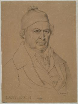 Johann Michael Wittmer: Bildnis Joseph Anton Kochs, 1831 Bleistift auf braunem Papier, 24,5 x 17,4 cm, Inv.-Nr. HZ-6333 © Kupferstichkabinett der Akademie der bildenden Künste Wien