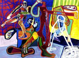"""Alexander Waltner, """"Ich habe keine Ahnung von der Ewigkeit"""", 2011, Acryl auf Leinen, 180 x 240 mm"""