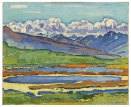 Ferdinand Hodler, Les Etangs longs bei Montana, 1915, Hilti Art Foundation