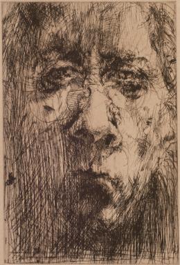 Horst Janssen, Selbst, aus dem Mappenwerk Hanno's Tod, 1972 Radierung Kunsthalle Bremen – Der Kunstverein in Bremen, Kupferstichkabinett © VG Bild-Kunst, Bonn 2019