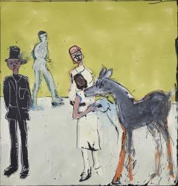 "John Kiki ""Affection"" 2016, Acryl auf Leinwand, 192 x 183 cm, (c) Galerie WOS, Pfäffikon-CH"