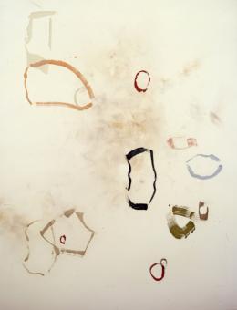 John Cage, The missing stone, 1989, Farbradierung, mpk, Graphische Sammlung, Foto mpk, © Künstler
