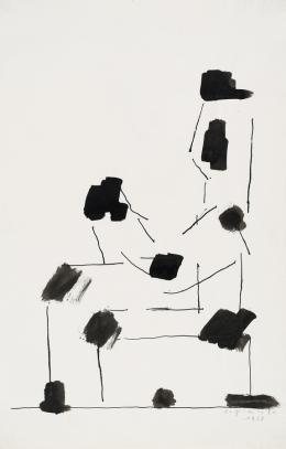 """Josef Pillhofer, """"Sitzender nach links"""", 1968,  Privatbesitz, Foto: Universalmuseum Joanneum/N. Lackner, © Bildrecht Wien, 2021"""