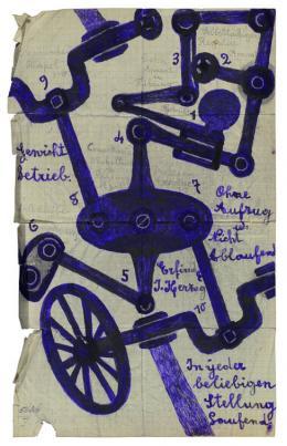 Josef H. (1876–?),  Ohne Titel, Antrieb, 1923  Sammlung Königsfelden, CH, © PDAG, Windisch