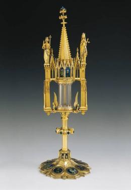 Kaiserpaar-Monstranz aus dem Basler Münsterschatz, Basel, 1347/1356; Historisches Museum
