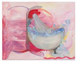 Kamilla Bischof, Baba Cool, 2019 Öl auf Leinwand, 250 x 200 cm, Foto: Ingo Kniest