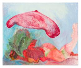 Kamilla Bischof, Aloe Vera, 2019 Öl auf Leinwand, 150 x 180 cm, Foto: Ingo Kniest
