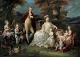 Angelika Kauffmann, Modello für das Gruppenbild der königlichen Familie von Neapel, 1782/83 (c) Liechtenstein. The Princely Collections, Vaduz-Vienna