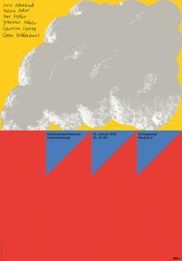 Diplompräsentation Industriedesign, eins aus einer Serie von zwölf Plakaten, Gestaltung: Lukas Eggert, Maximilian Haslauer (D Stuttgart) © Lukas Eggert, Maximilian Haslauer / 100 Beste Plakate e. V.