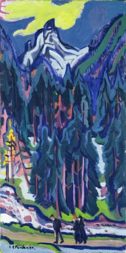 Ernst Ludwig Kirchner (1880 –1938), Sertigtal, 1924, Öl auf Leinwand, 150.5 x 75.5 cm, Bündner Kunstmuseum Chur, Ankauf mit einem Beitrag des Bündner Kunstvereins