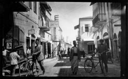Straßenecke in Manschieh 1929, Foto: Zvi Oron