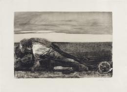 Käthe Kollwitz, Die Pflüger. Blatt 1 aus der Folge «Bauernkrieg», vor 16.1.1907 Strichätzung u.a., 30,5 x 44,6 cm Kunsthaus Zürich