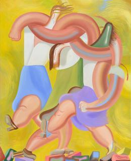Kristina Schuldt Delirium, 2017 Öl und Eitempera auf Leinwand Oil and tempera on canvas 220 x 180 cm courtesy Galerie EIGEN + ART Leipzig/Berlin © Kristina Schuldt Foto: Uwe Walter, Berlin
