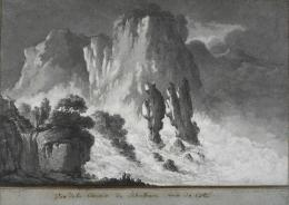 Claude Louis Châtelet (1753-1794), Vue de la Cascade de Schaffouse vue de Coté, 1780/81 (c) Museum zu Allerheiligen Schaffhausen