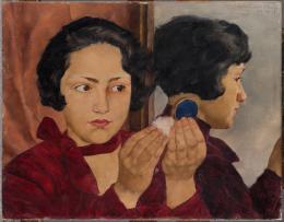 Lotte Laserstein,  Russisches Mädchen mit Puderdose, 1928  Städel Museum, Frankfurt am Main, Inv. Nr. 2442 | © Bildrecht, Wien 2019 | Foto: Städel Museum – Artothek