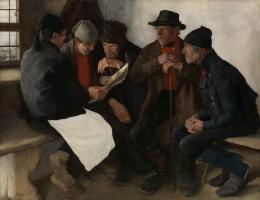 Die Dorfpolitiker, 1877 Öl auf Holz Kunst Museum Winterthur, Stiftung Oskar Reinhart © SIK-ISEA, Zürich (Lutz Hartmann)