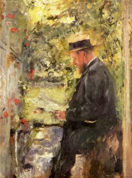 Wilhelm Leibl, Tierarzt Reindl in der Laube, um 1890 Öl auf Holz, 26 x 19,5 cm Städtische Galerie im Lenbach- haus und Kunstbau München