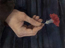 Das Mädchen mit der Nelke, Öl auf Holz Staatliche Kunsthalle Karlsruhe © bpk / Staatliche Kunsthalle Karlsruhe / Annette Fischer/Heike Kohler