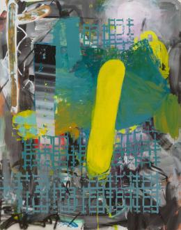 Lipp&Leuthold, Quengelware, 2021 Acryl auf Leinwand, 230 x 180 cm, Courtesy the artists