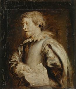 Anthonis van Dyck (Werkstatt), Lucas van Uden, um 1629–1634. Öl auf Eichenholz, 24,4 x 20,5 cm; © Bayerische Staatsgemäldesammlungen, Staatsgalerie Neuburg