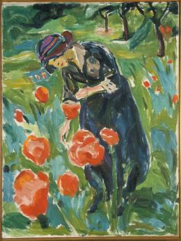 Edvard Munch: Woman with Poppies, 1918–19. Öl auf Leinwand, 100 x 75 cm; Munchmuseet, Oslo. Foto: © Kunstsammlung NRW