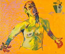 Martin Kippenberger: Ohne Titel (aus der Serie Das Floß der Medusa), 1996. Öl auf Leinwand, 150 cm x 180 cm; © Estate of Martin Kippenberger, Galerie Gisela Capitain, Cologne