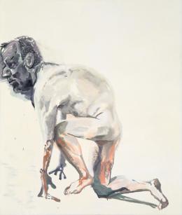 Martin Kippenberger: Ohne Titel (aus der Serie Hand Painted Pictures), 1992. Öl auf Leinwand,180 cm x 150 cm; © Estate of Martin Kippenberger, Galerie Gisela Capitain, Cologne.