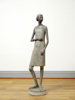 Heinz Schwarz (1920–1994), Mädchen, undat.,Gips,  180 x 45 x 18 cm, Kunstmuseum Solothurn
