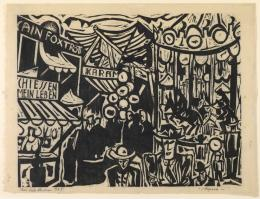 Max Sulzbachner, Messe, 1925. Holzschnitt, Blatt: 46.7 x 62.7 cm Bild: 42.2 x 45 cm, Inv. 1988.162; Kunstmuseum Basel- Geschenk Dieter Koepplin, Basel. Photo Credit: Kunstmuseum Basel Martin P. Bühler