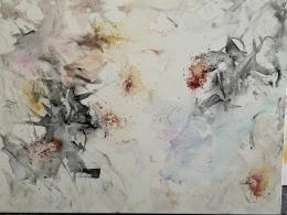 "Bildausschnitt, Monika Kus-Picco, ""Bitter Pills"", Medizinische Produkte auf Leinwand, 200 x 300 cm © Monika Kus-Picco"