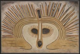 Wandjina, Australien, Kimberley, Mount Hann, 1938, Douglas C. Fox, Aquarell auf Papier, 73 × 108,5 cm © Frobenius-Institut