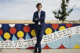 Künstler Stefan Sagmeister präsentiert Beautification in aspern Die Seestadt Wiens (c) Wien 3420 aspern Development AG/APA-Fotoservice/Tesarek