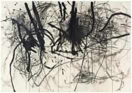 Otto Zitko,  ohne Titel, 1990 / Mischtechnik/Papier auf Holz, 183 x 260 cm  © Bildrecht, Wien 2019 / Foto: Markus Wörgötter, Wien