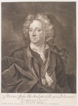 Peter Schenck: Porträt des Künstlers spätes 17. Jh./frühes 18. Jh. Radierung; Von der Heydt-Museum Wuppertal